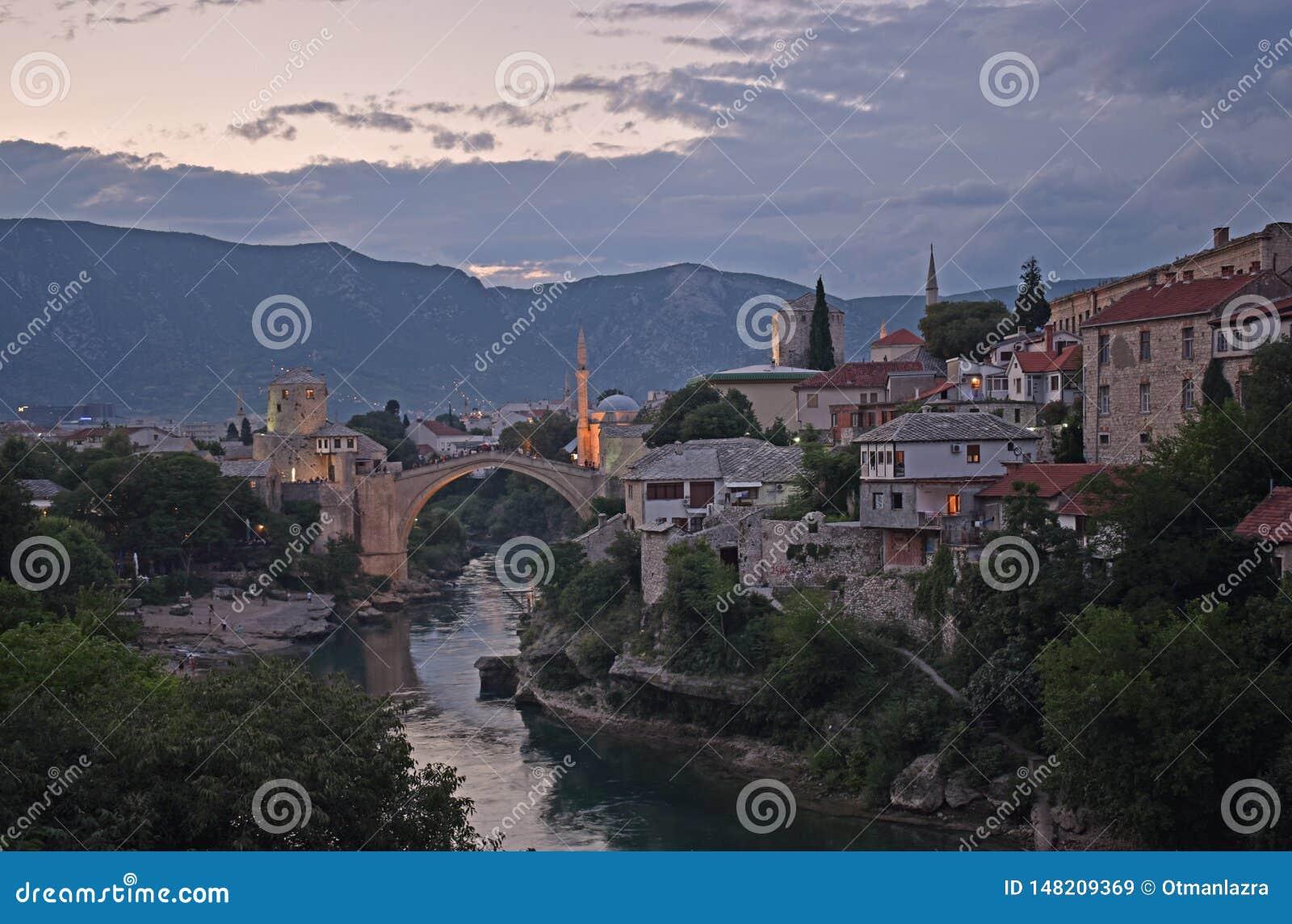 Gammal stad av Mostar, Bosnien och Hercegovina,