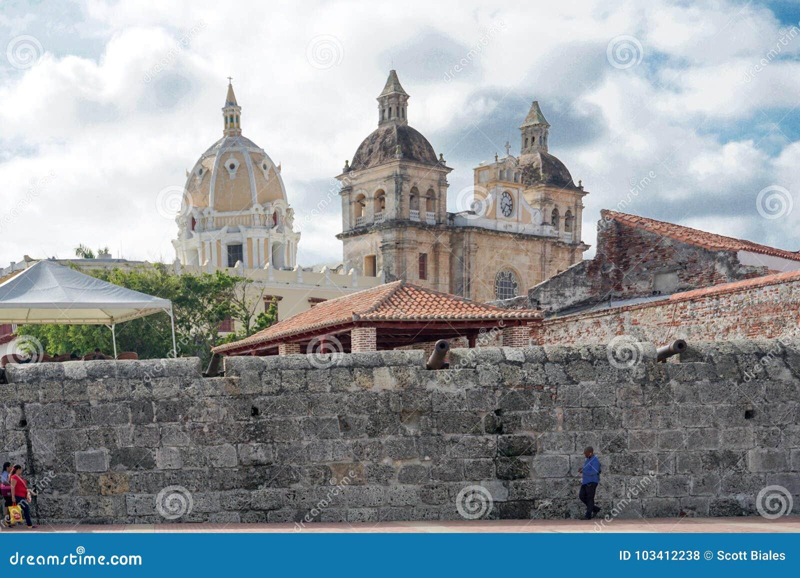 Gammal stad, Cartagena, Colombia