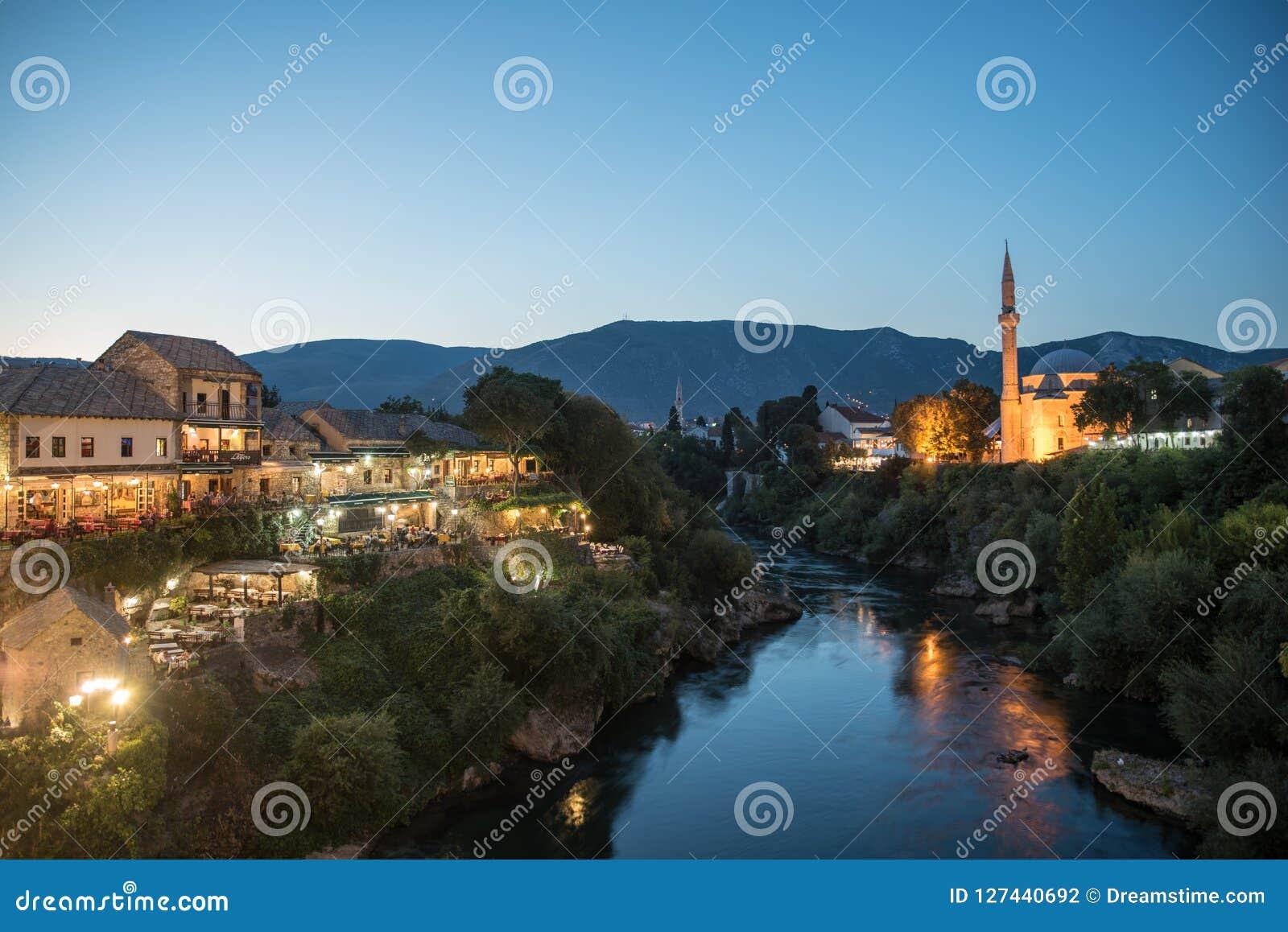 Gammal stad i Mostar, Bosnien och Hercegovina