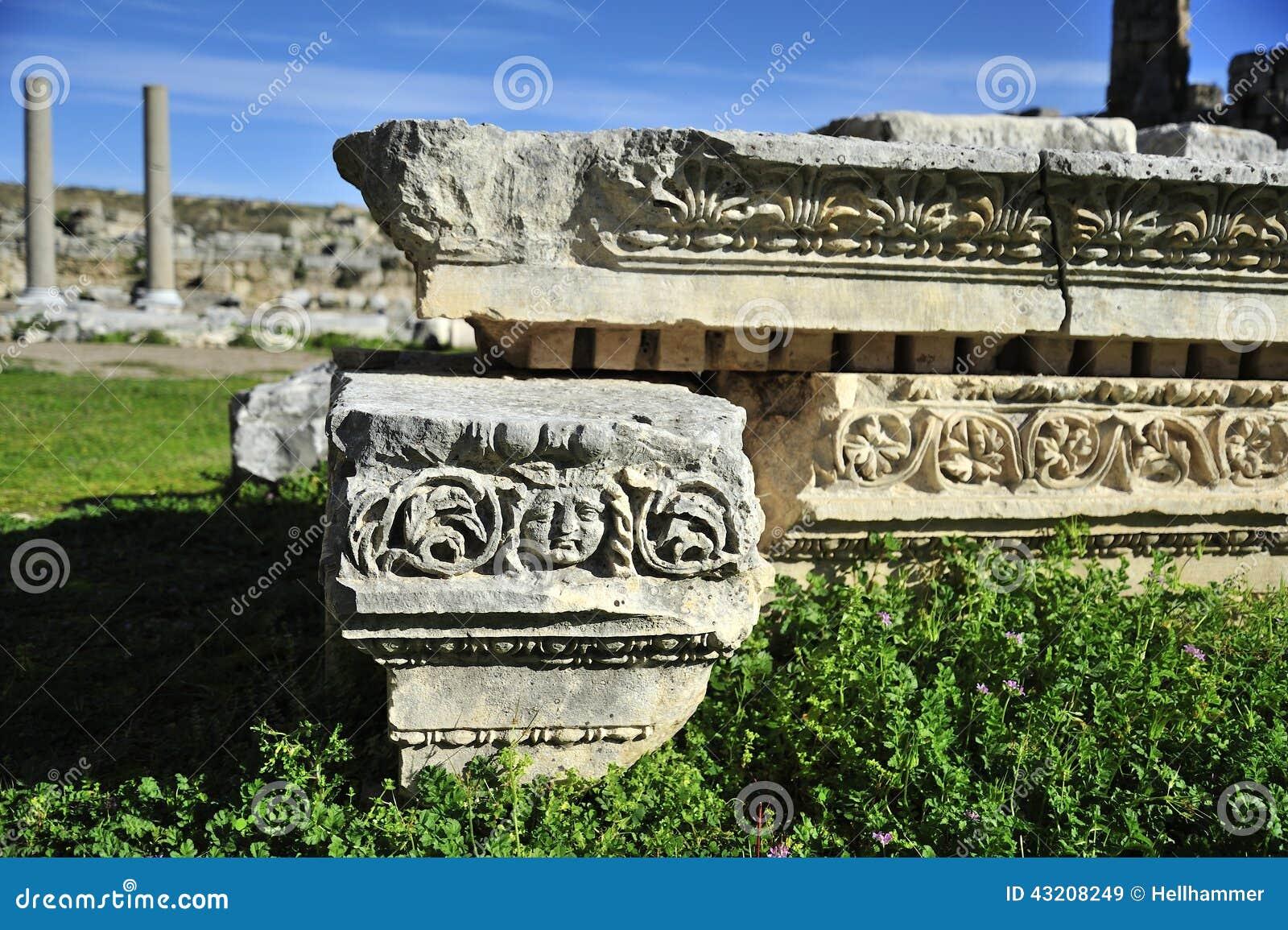 Download Gammal stad Perga, Turkiet fotografering för bildbyråer. Bild av acropolisen - 43208249