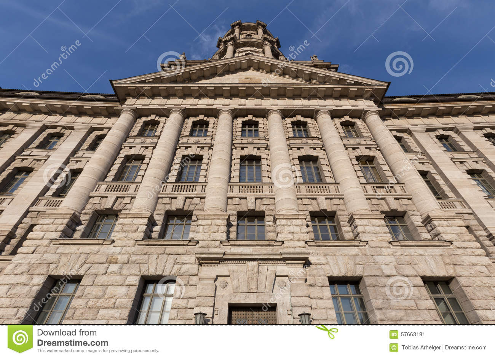Gammal stadthausbyggnad i berlin Tyskland