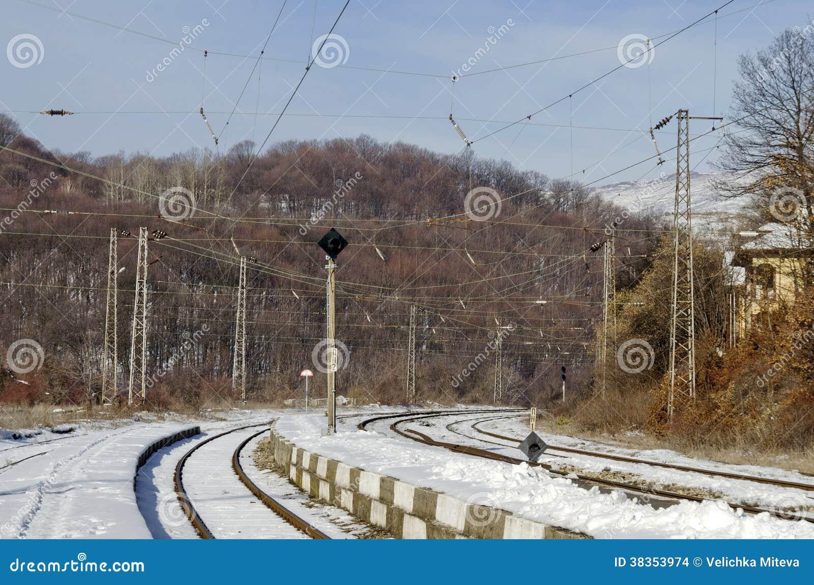 Gammal station av järnvägen
