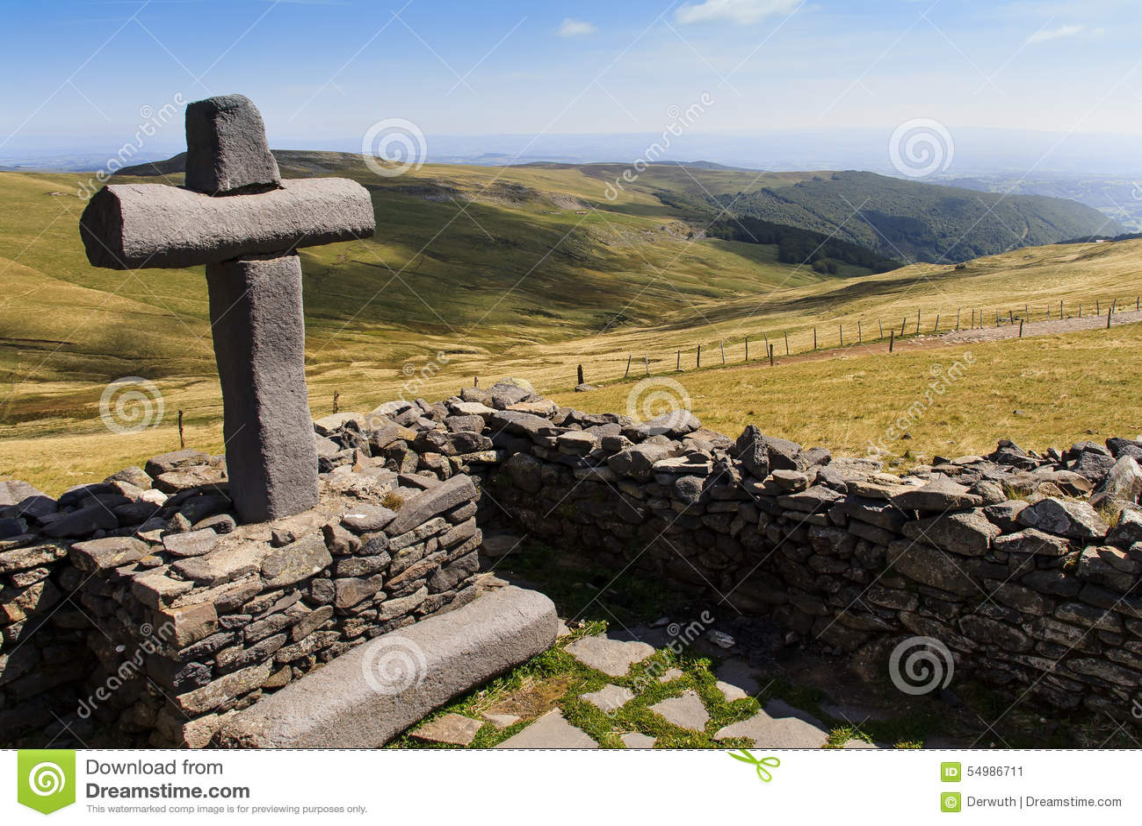Gammal sten för kors