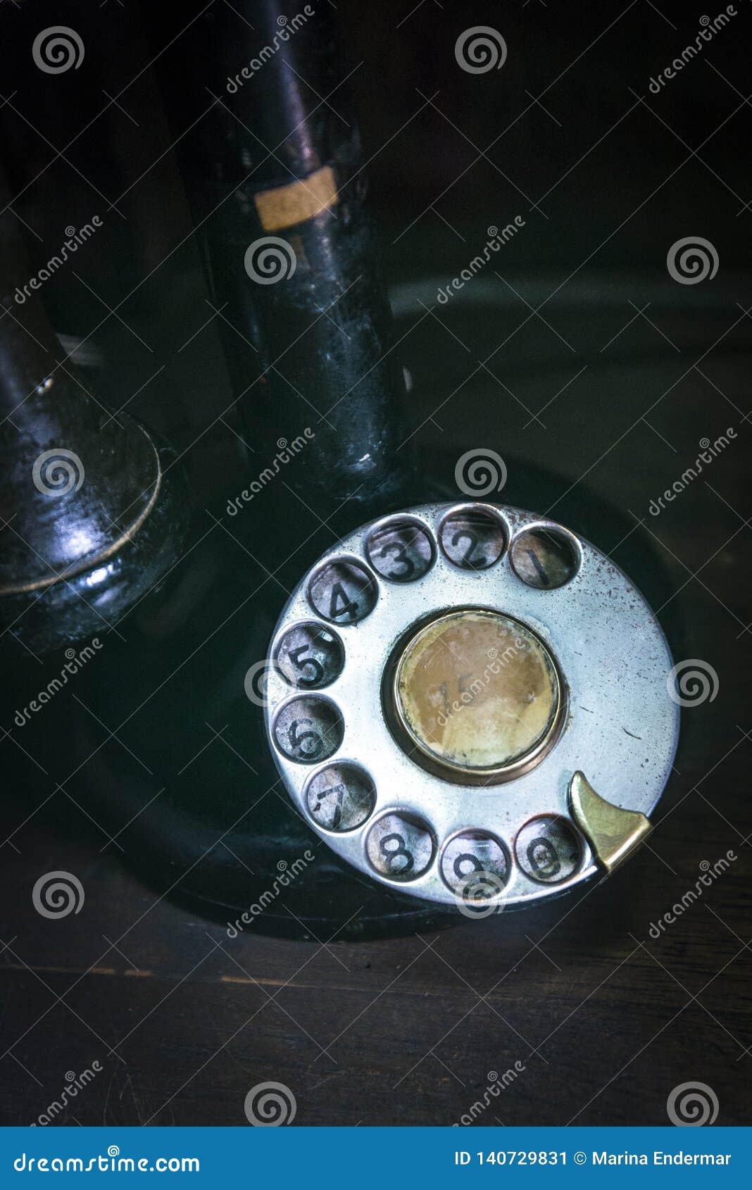 Gammal telefon för visartavla
