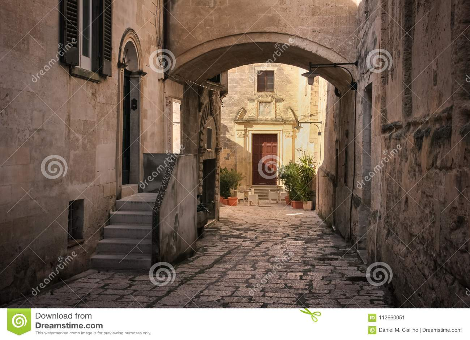 Gammal town Matera Basilicata Apulia eller Puglia italy