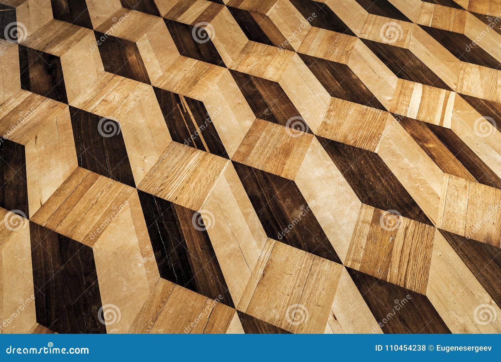 Gammal träparkettdesign