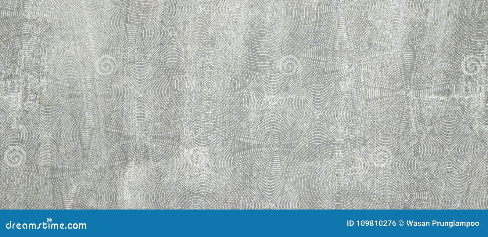 Gammal vägg för Grungebetongcement med cirkellinjen texturbackgro