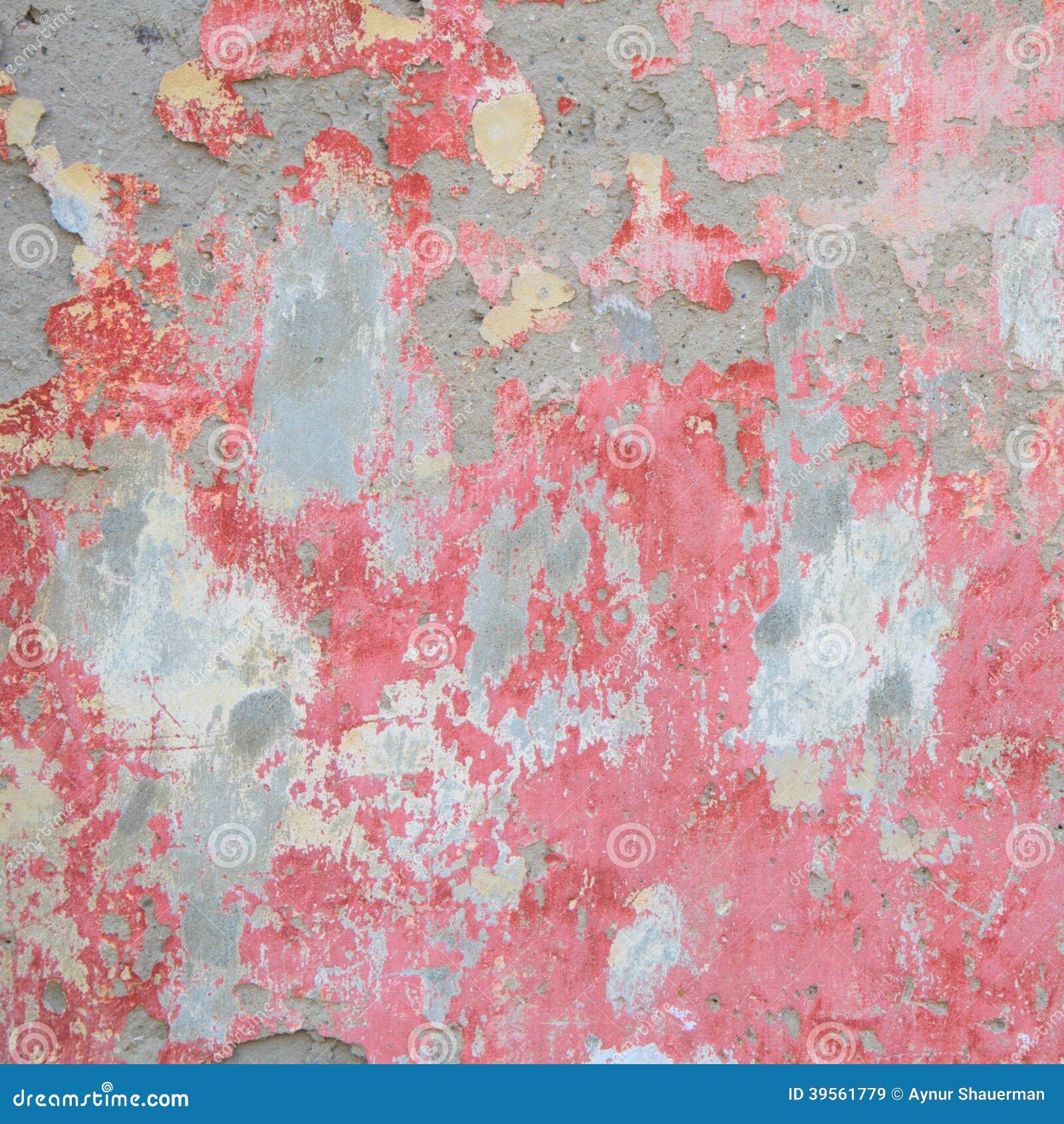 Gammal vägg med röd smula murbruk