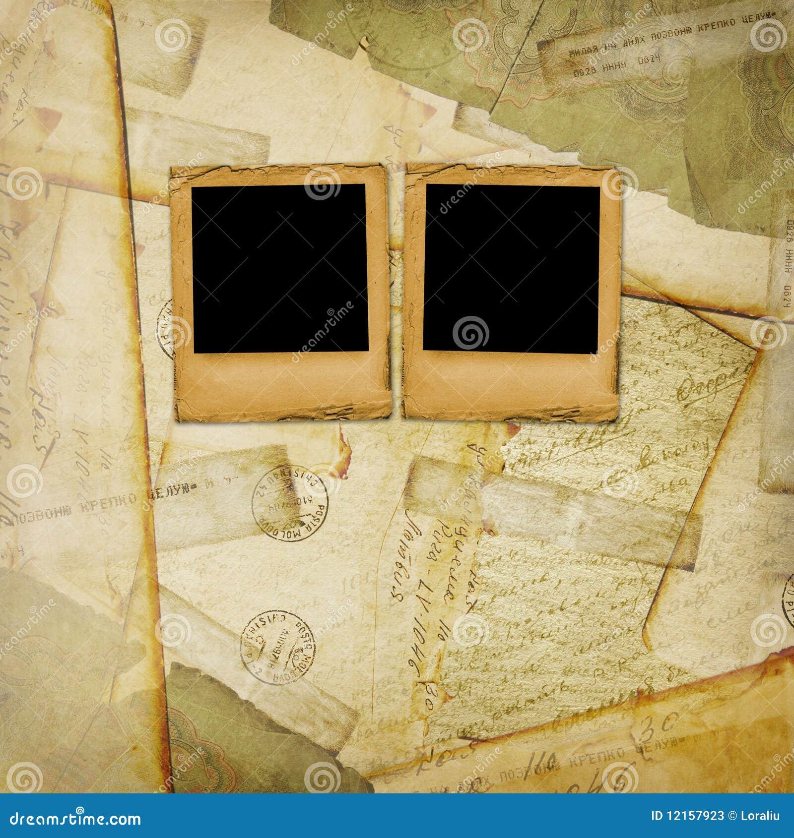 Gammal vykorttappning för åldrig bakgrund