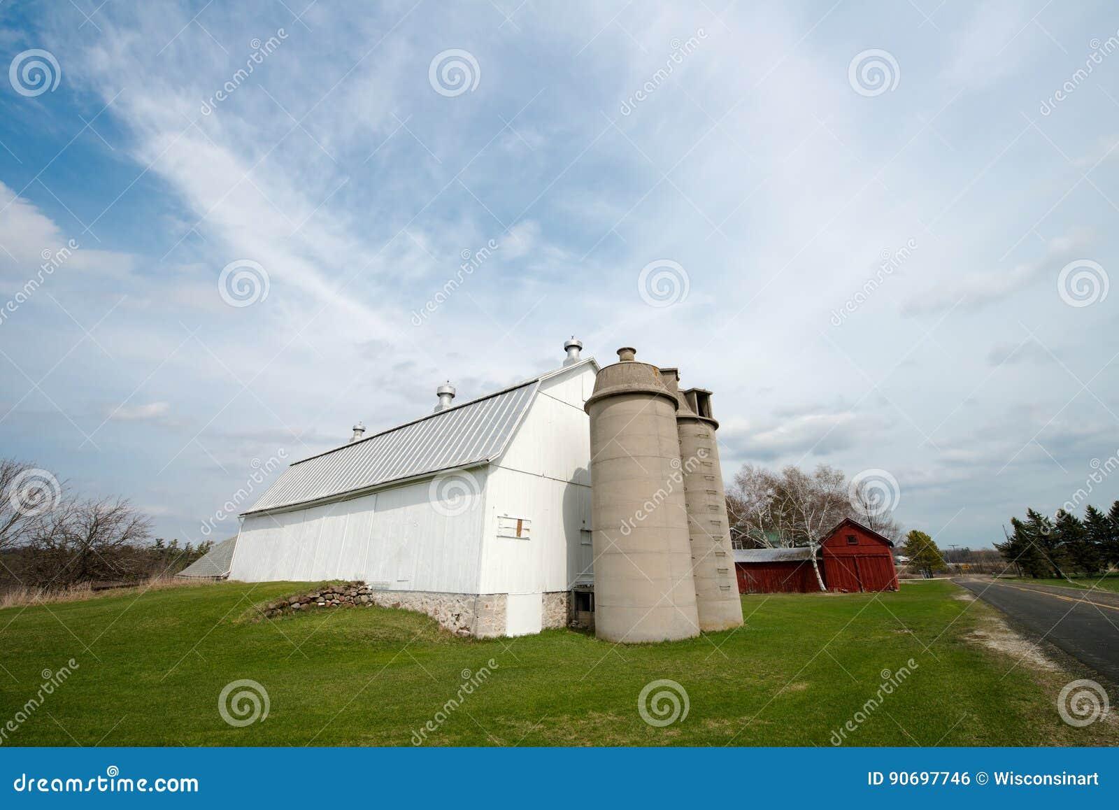 Gammal Wisconsin mejerilantgård, ladugård
