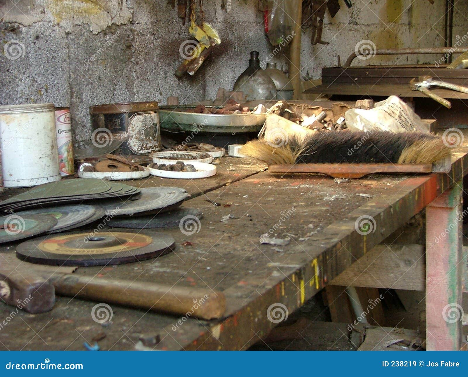 Gammal workbench