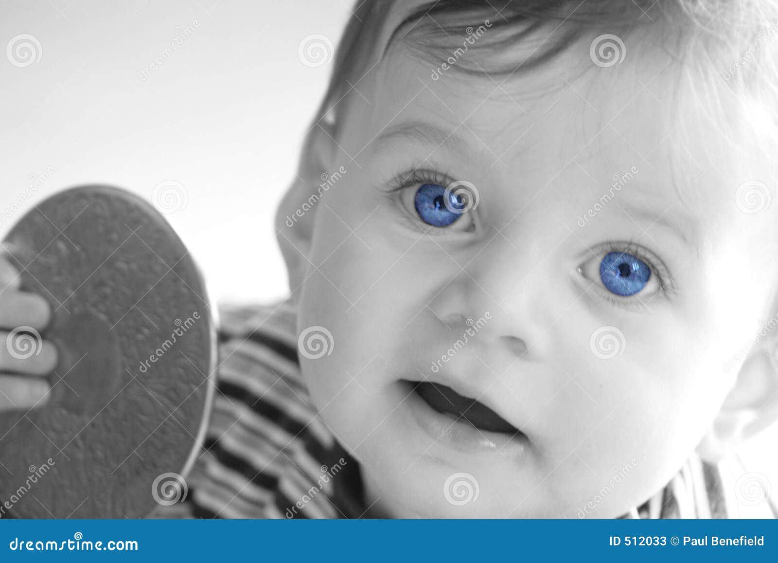 Gammala blåa ögon