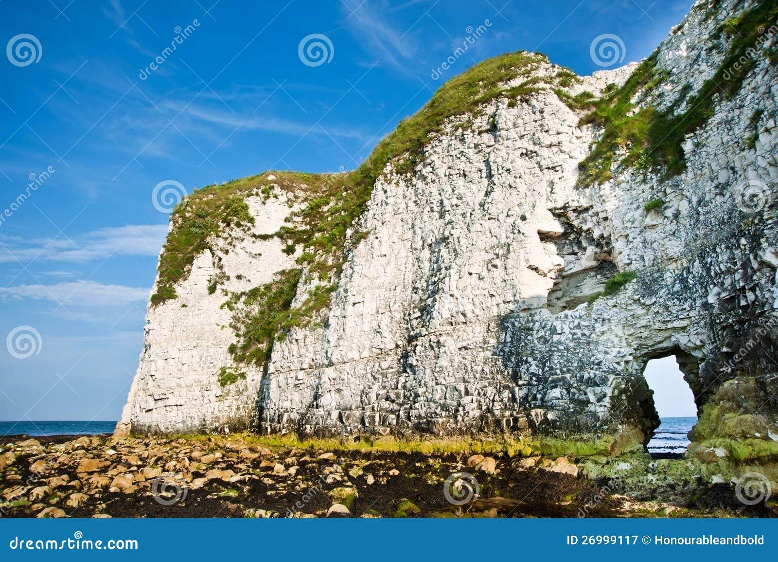 Gammala Harry vaggar Jurassic seglar utmed kusten UNESCO England