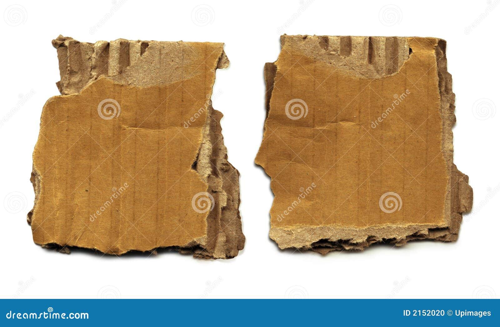 Gammala rester för papp