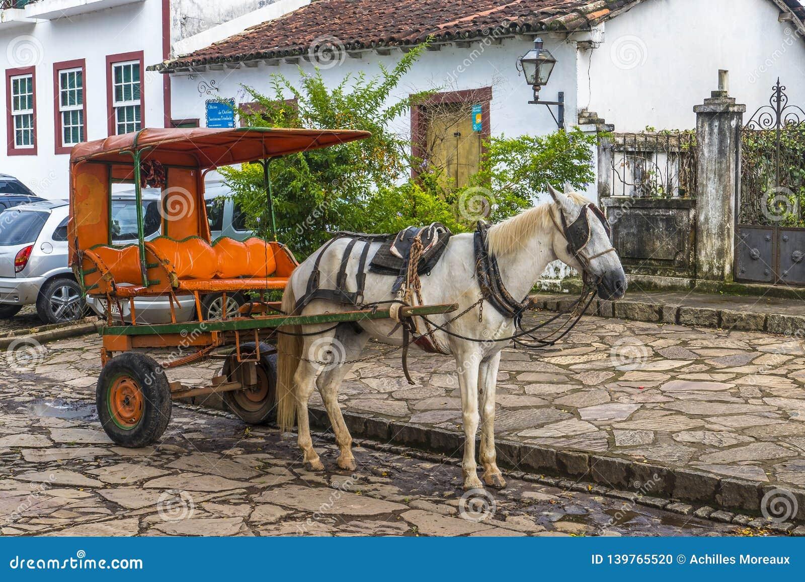 Gammala släp för häst