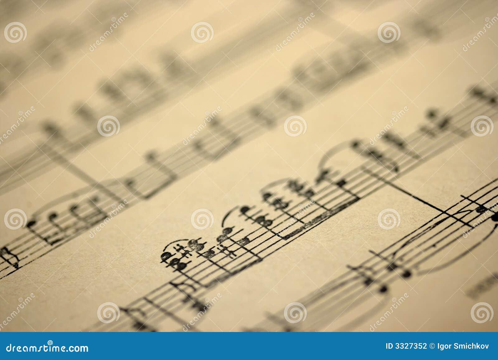 Gammalt ark för musik