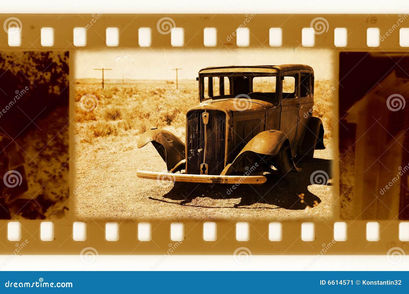 Gammalt foto retro USA för 35mm bilram