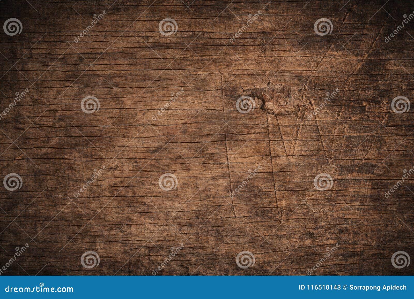 Gammalt grungemörker texturerade träbakgrund, yttersidan av den gamla bruna wood texturen, för bruntträ för bästa sikt panel