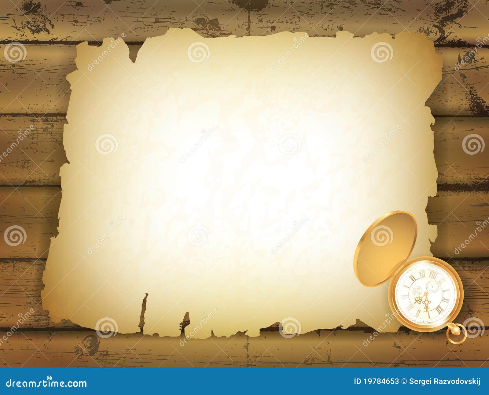 Gammalt paper trä för bakgrund