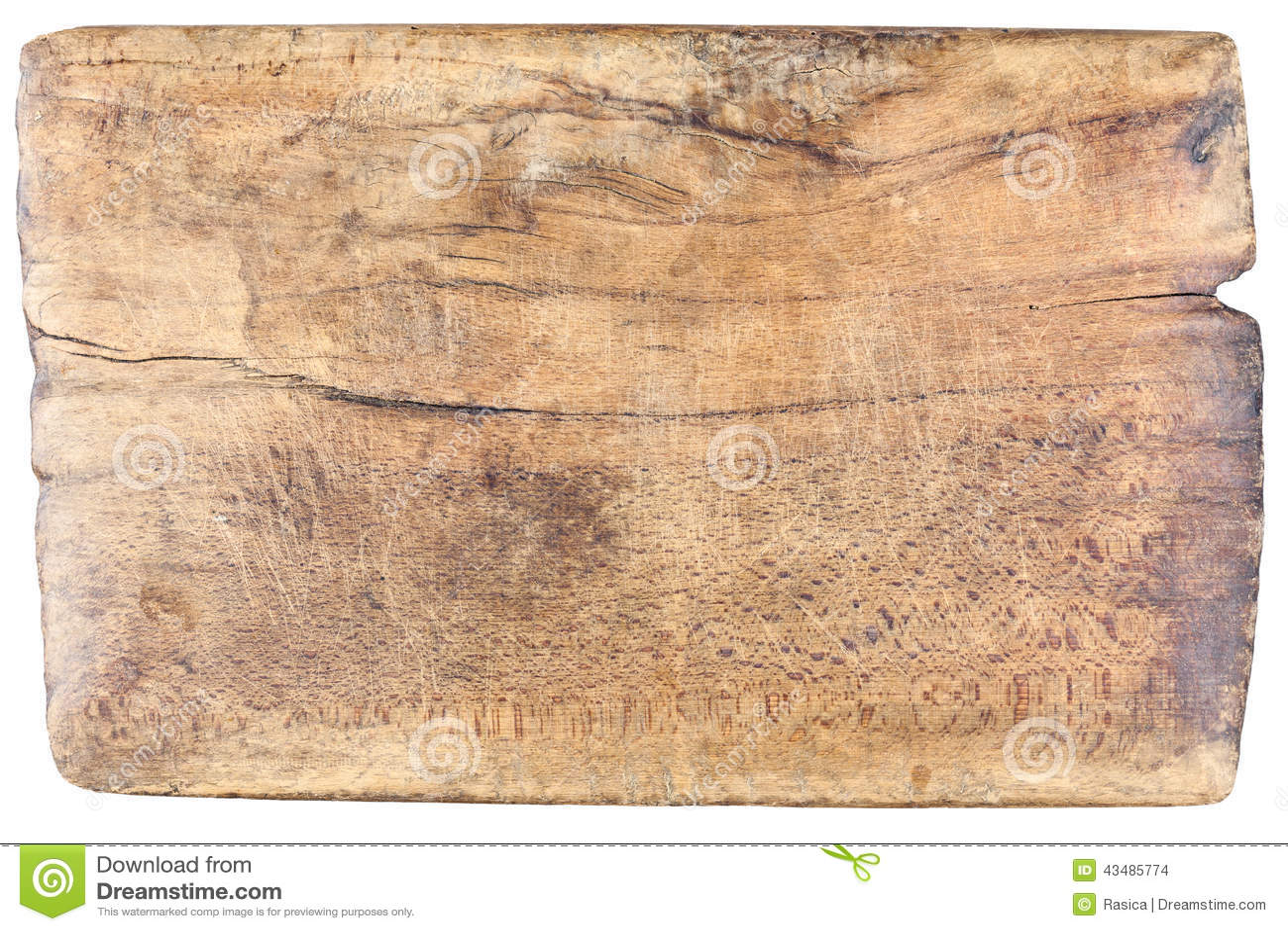 Gammalt tappning som är trä, skärbräda