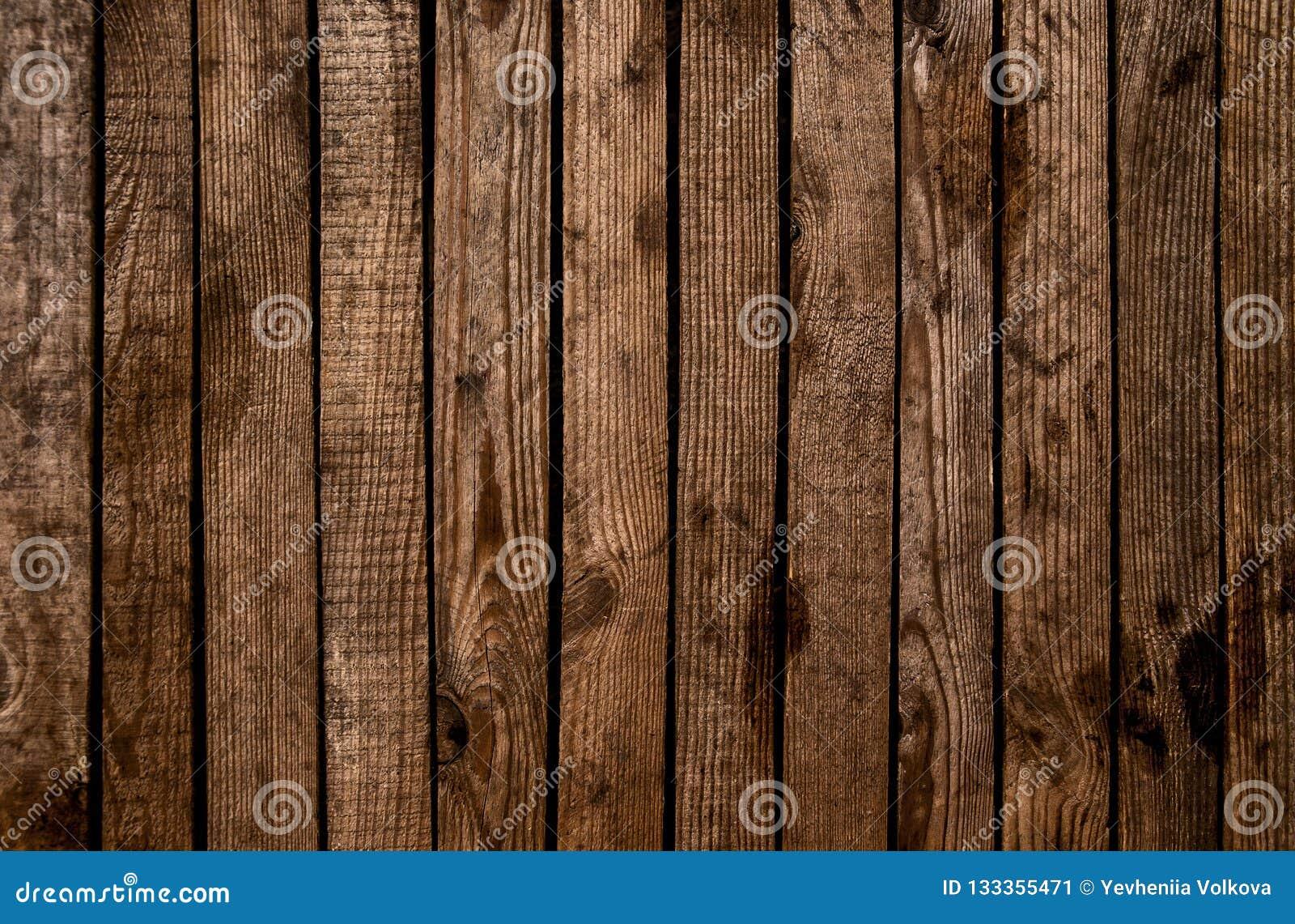 Gammalt texturerad träbakgrund för grunge mörker Yttersidan av nollan
