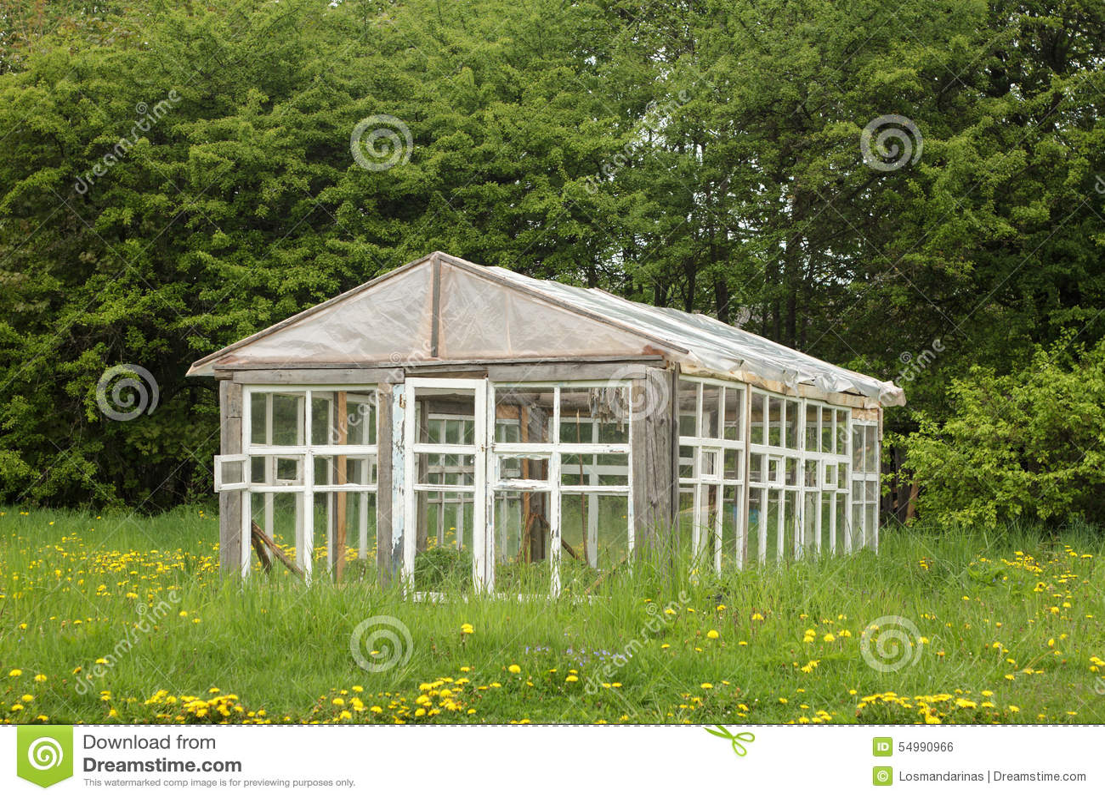 Gammalt växthus