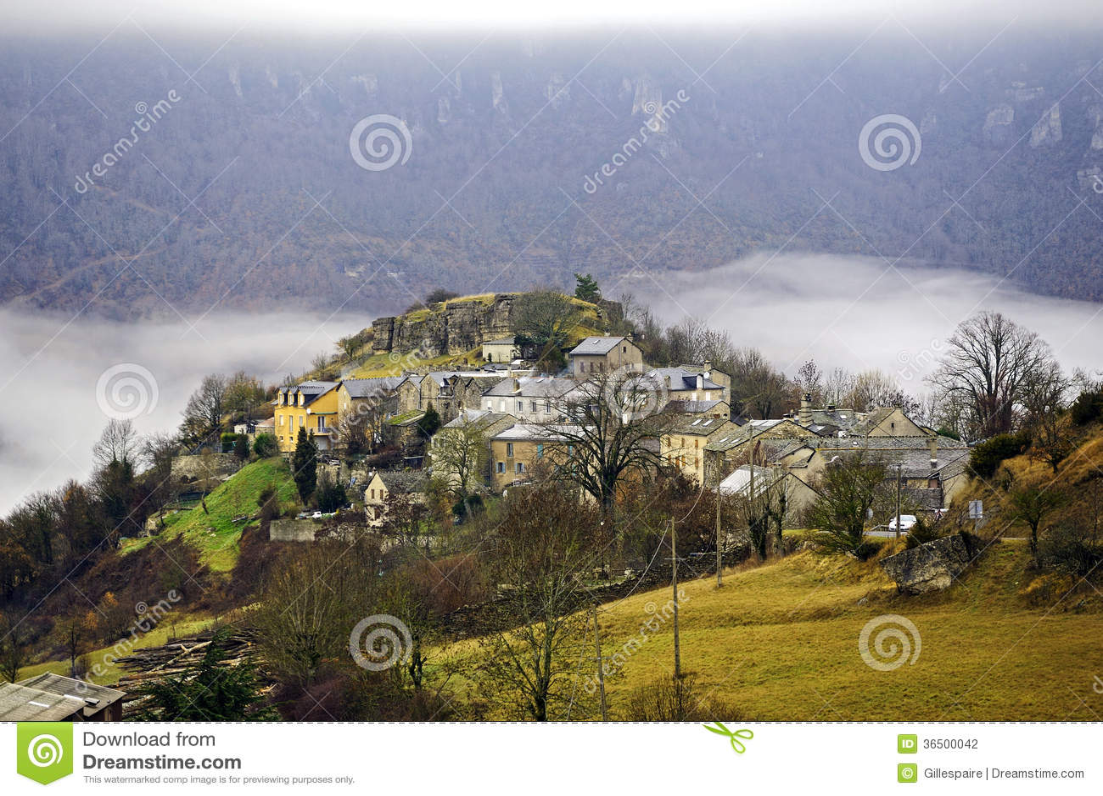 Gamme de montagne de Cevennes