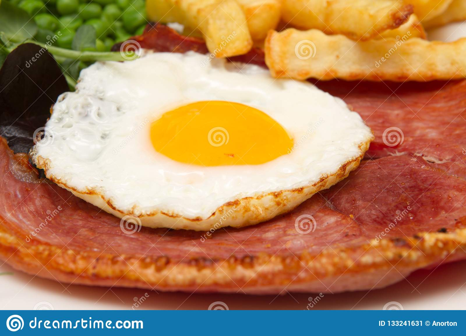 Gammon steak with a fried egg