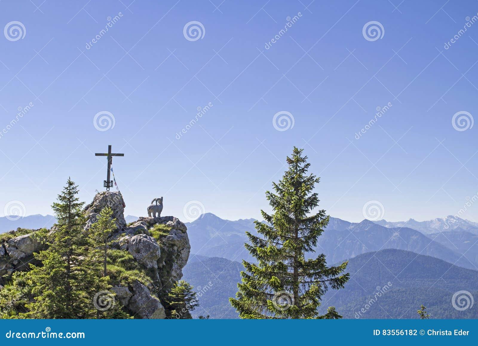 Gamskopf - petit sommet dans la région de Brauneck