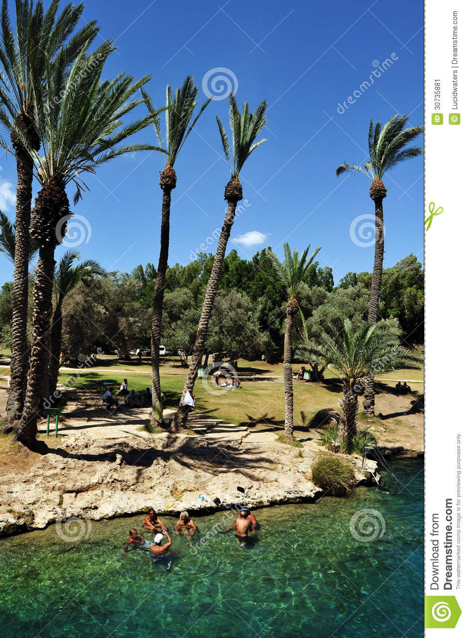 Beit Shean Israel  City pictures : BEIT SHEAN, ISRAEL MAY 17:Visitors at Gan Hashlosha on May 17 2009 ...