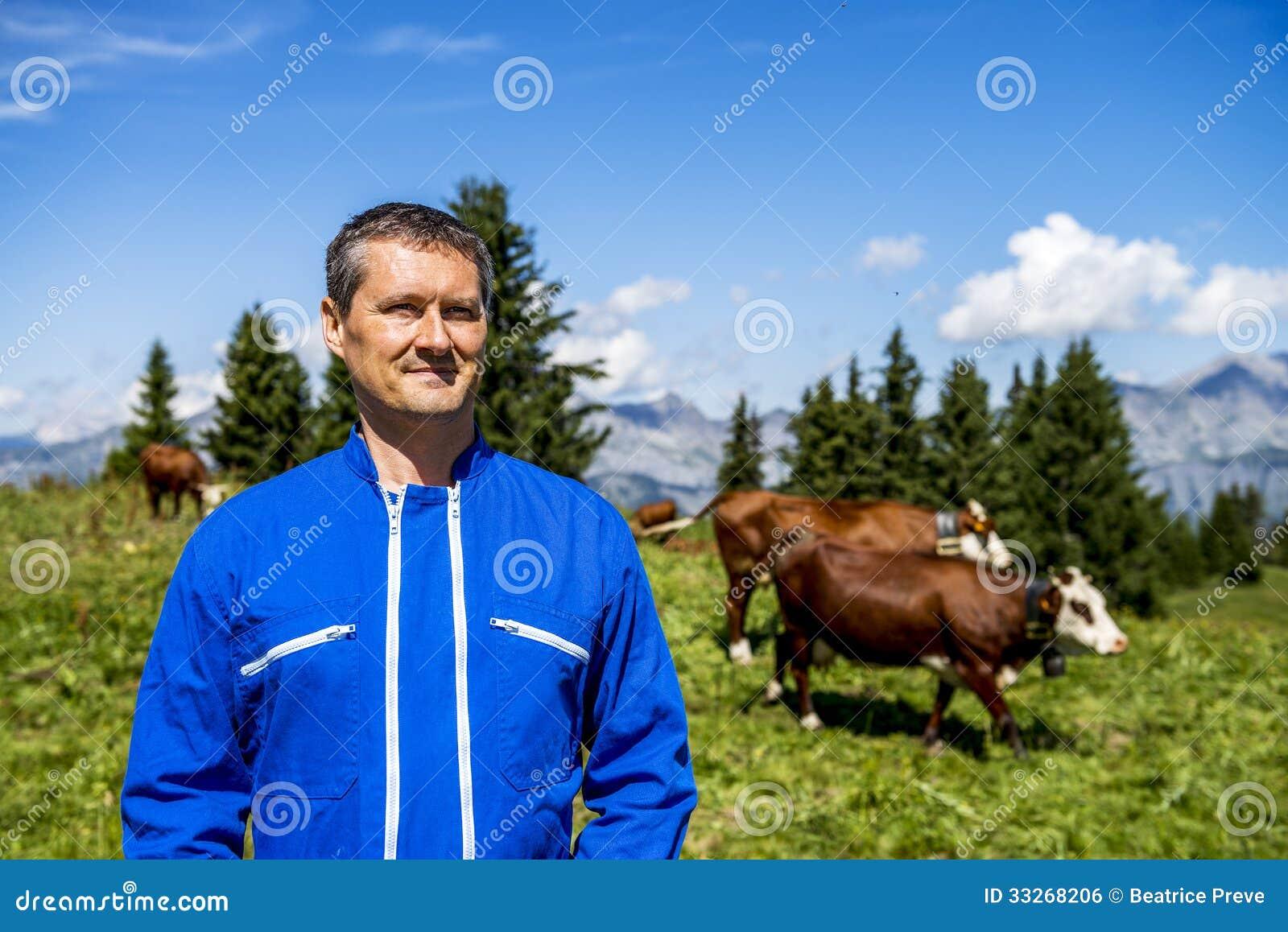 Ganadero y vacas