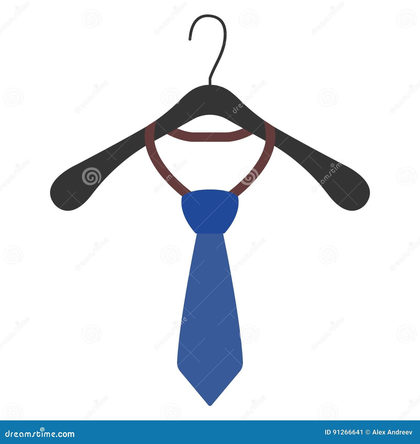 Gancho de roupa com ícone e sinal do laço Ilustração do vetor
