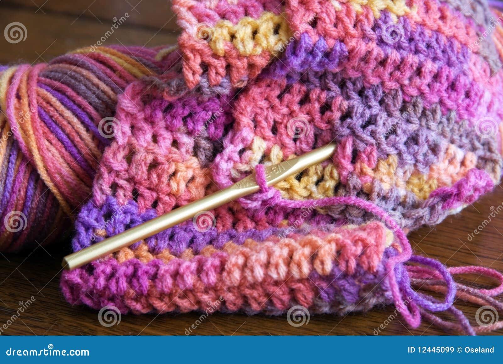 Gancho do Crochet, do fio e de Crochet