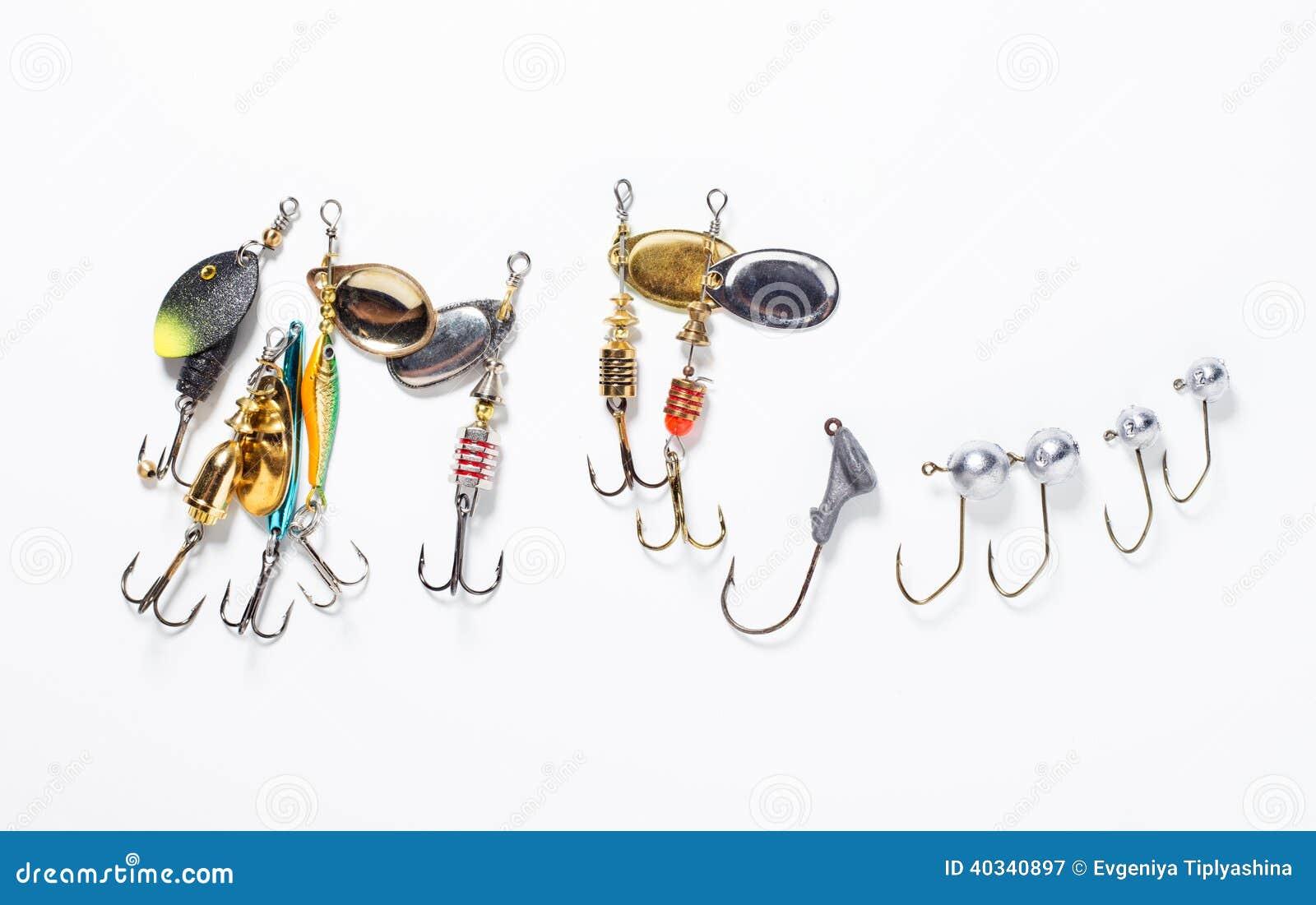 Ganchos de pesca con cebo