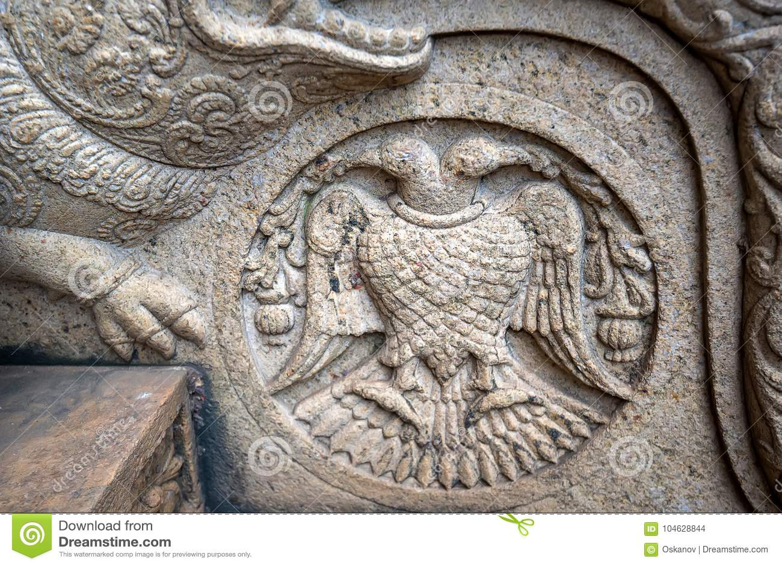 Download Gandaberunda Of Berunda Pakshiya Stock Foto - Afbeelding bestaande uit avatar, adelaar: 104628844