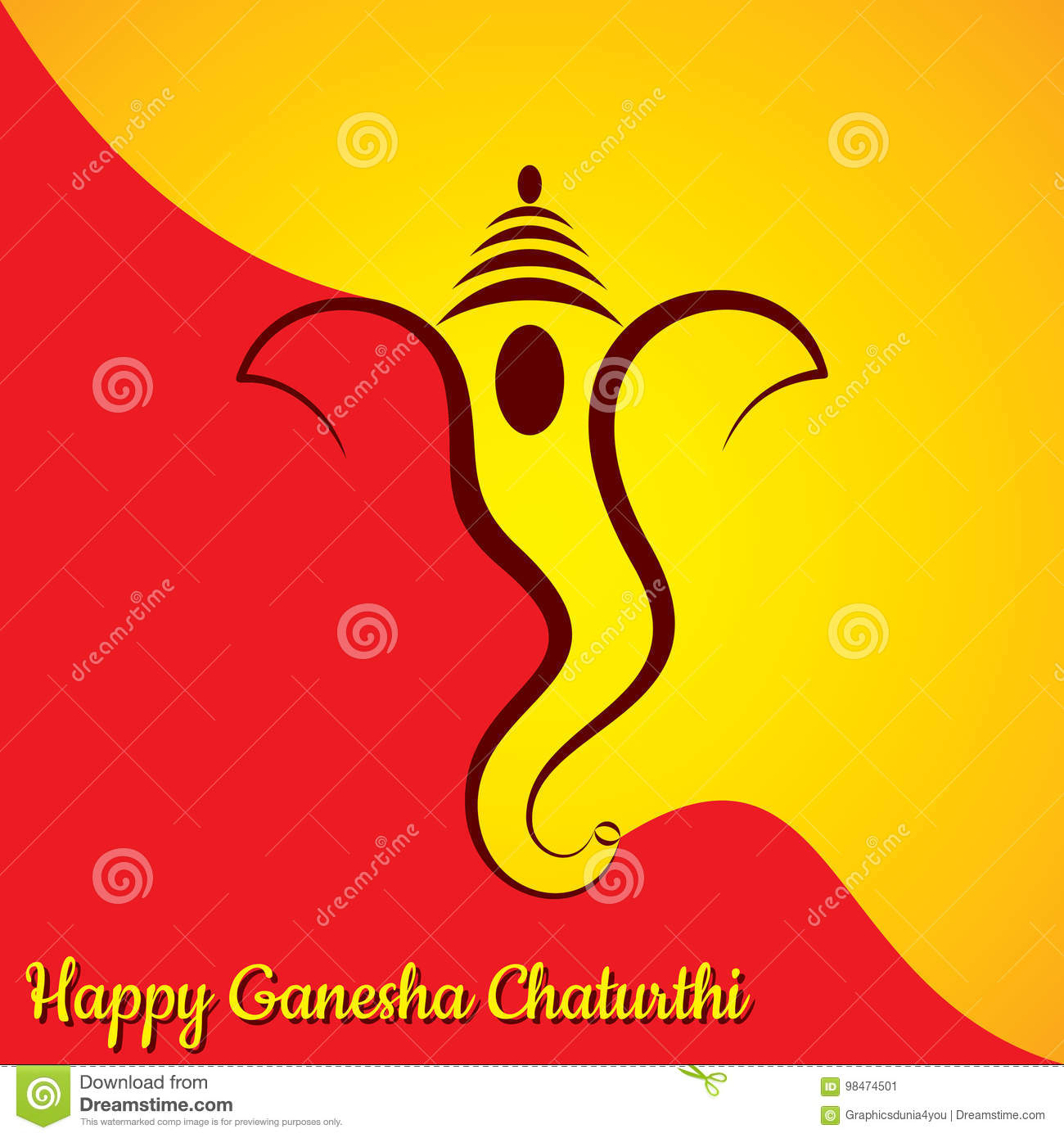 Ganesh chaturthi greeting card stock vector illustration of hindu download ganesh chaturthi greeting card stock vector illustration of hindu asian 98474501 m4hsunfo