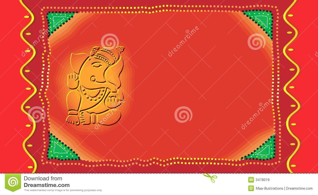 Ganesh on invitation card stock vector illustration of lotus 3478019 ganesh on invitation card stopboris