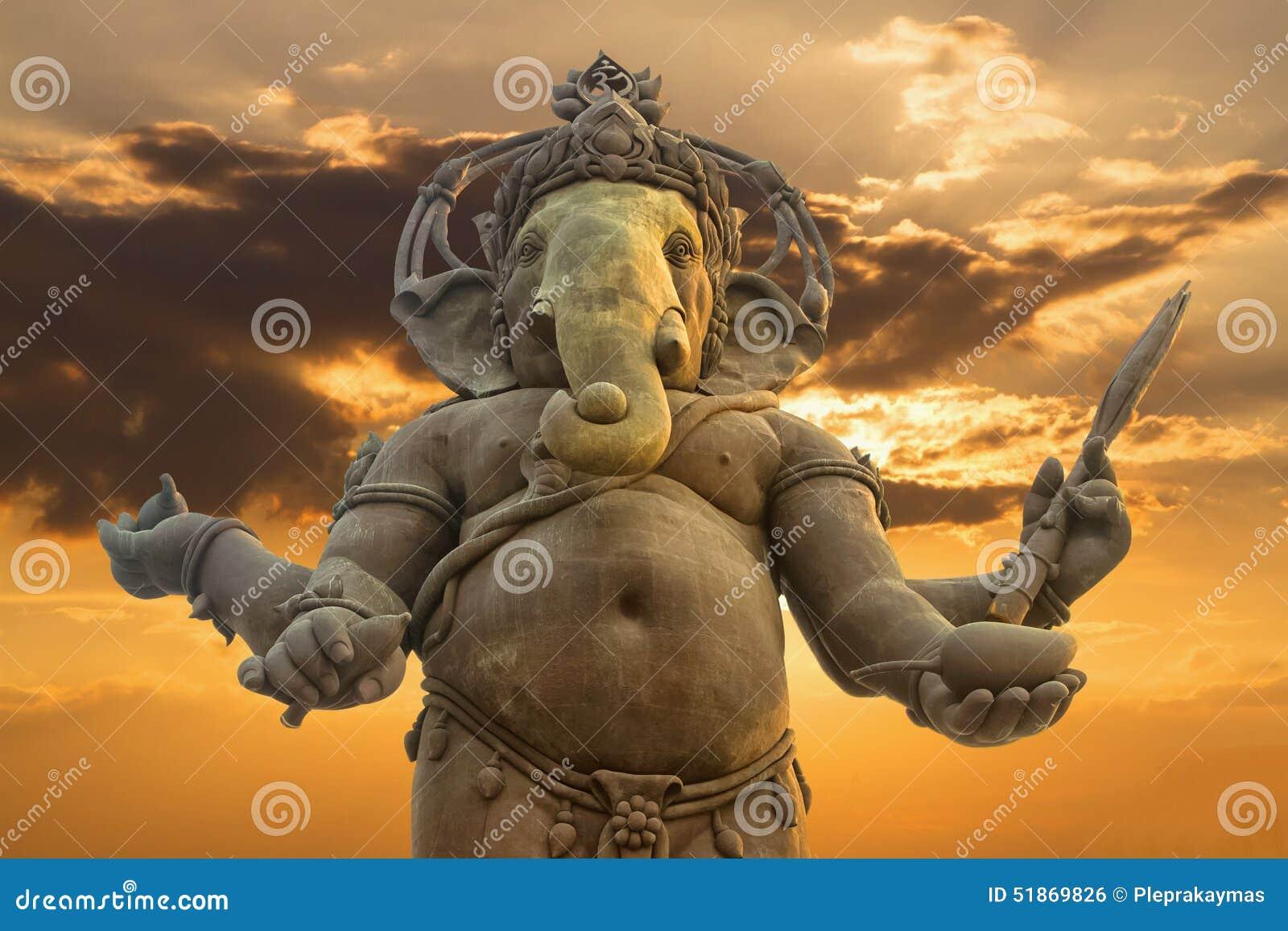 Ganesha, estatua hindú de dios