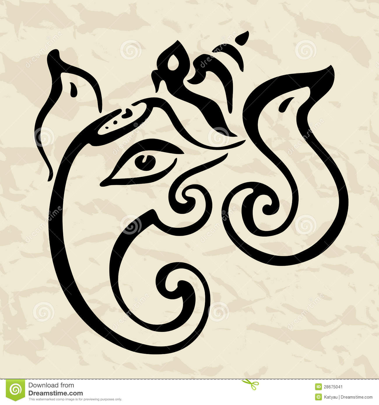 Ganesha Hand Drawn Illustration. Stock Image - Image: 28675041