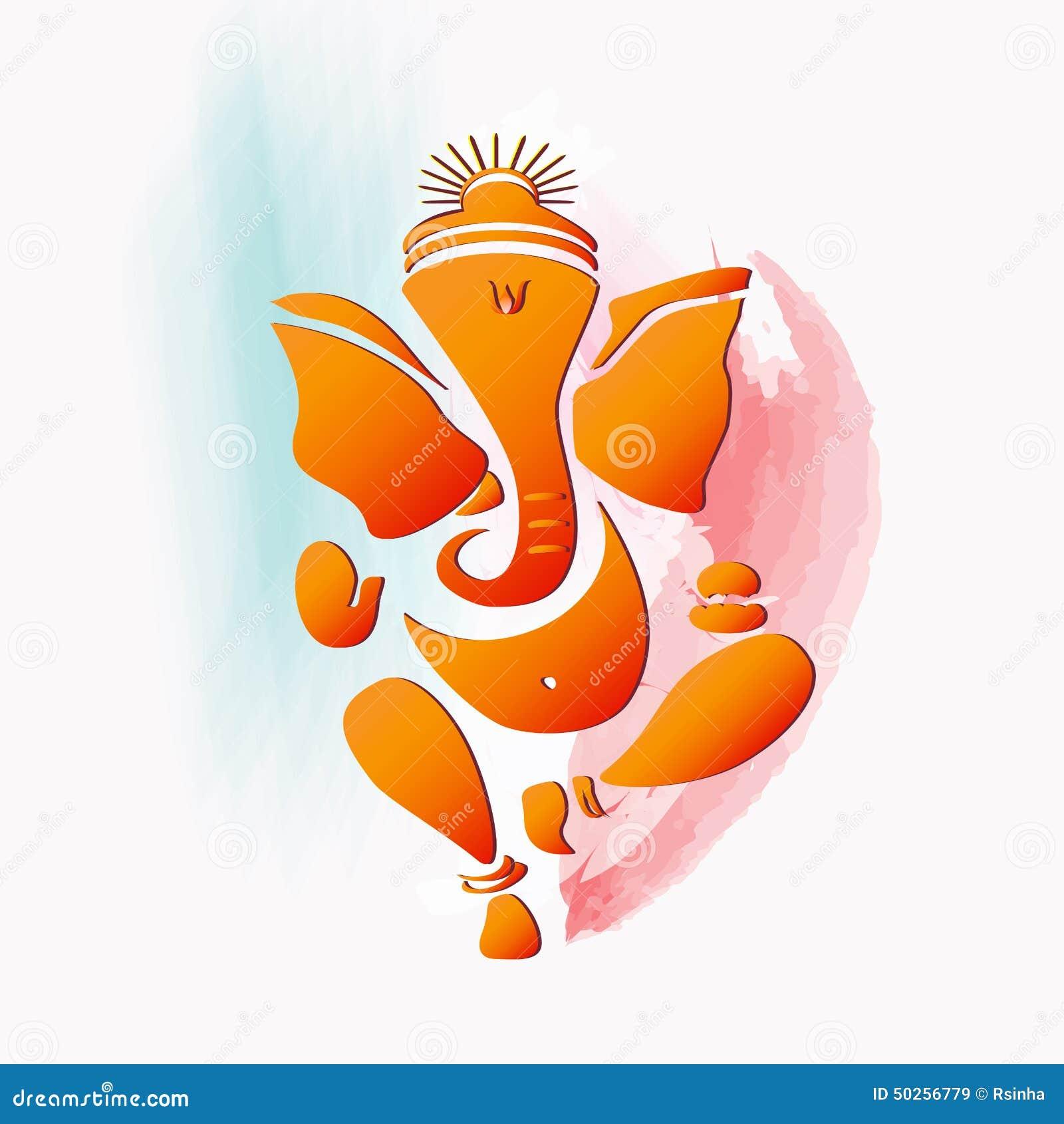 Ganesha Hindu God Stock Vector Image 50256779