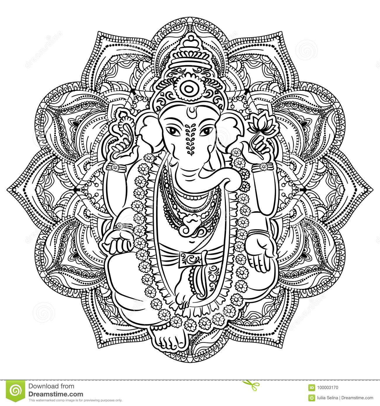 coloring books for adults india ganesha coloring book for adults stock illustration