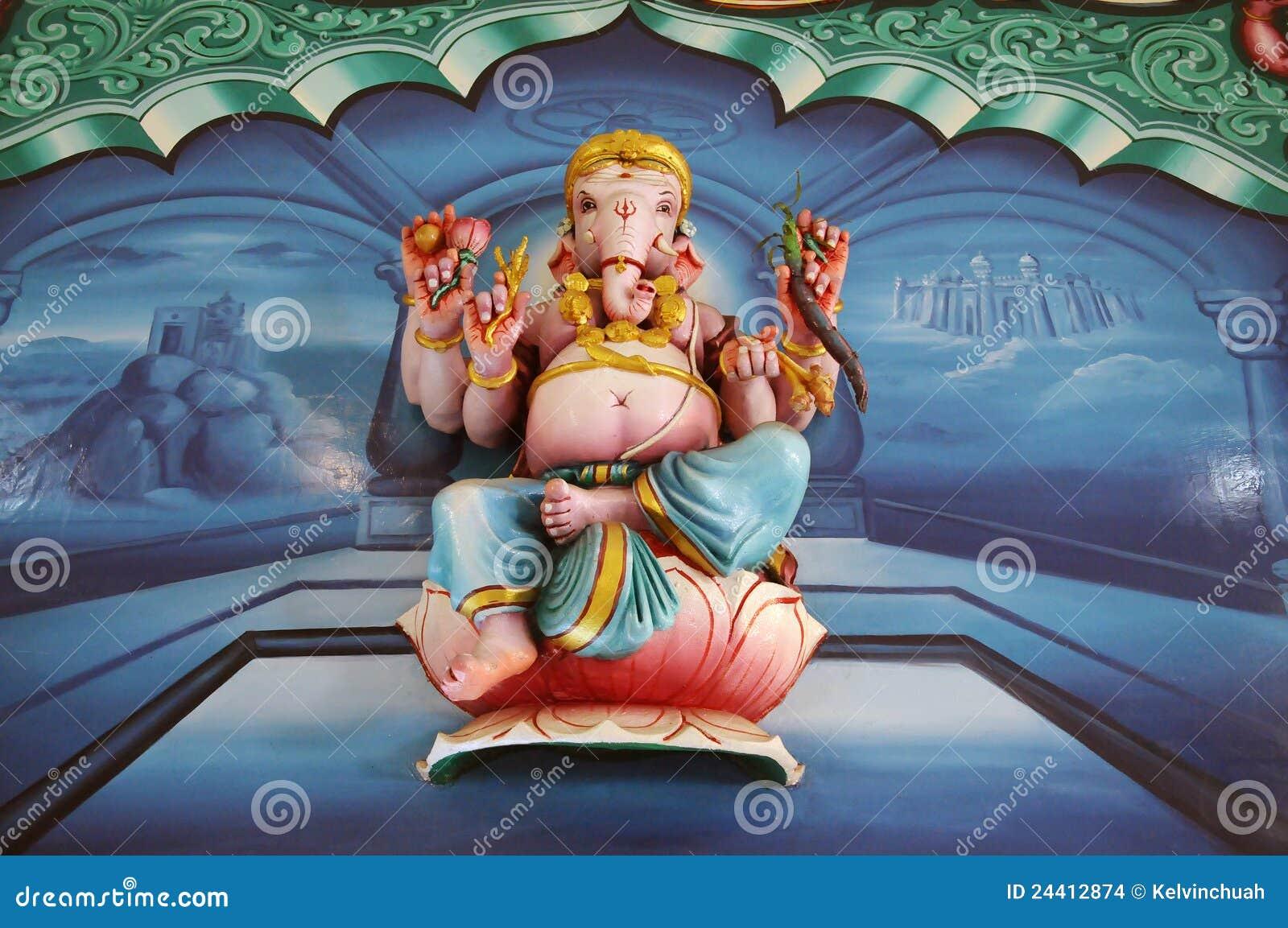 Ganesha sitting on lotus flower india stock images image 24412874 royalty free stock photo dhlflorist Gallery