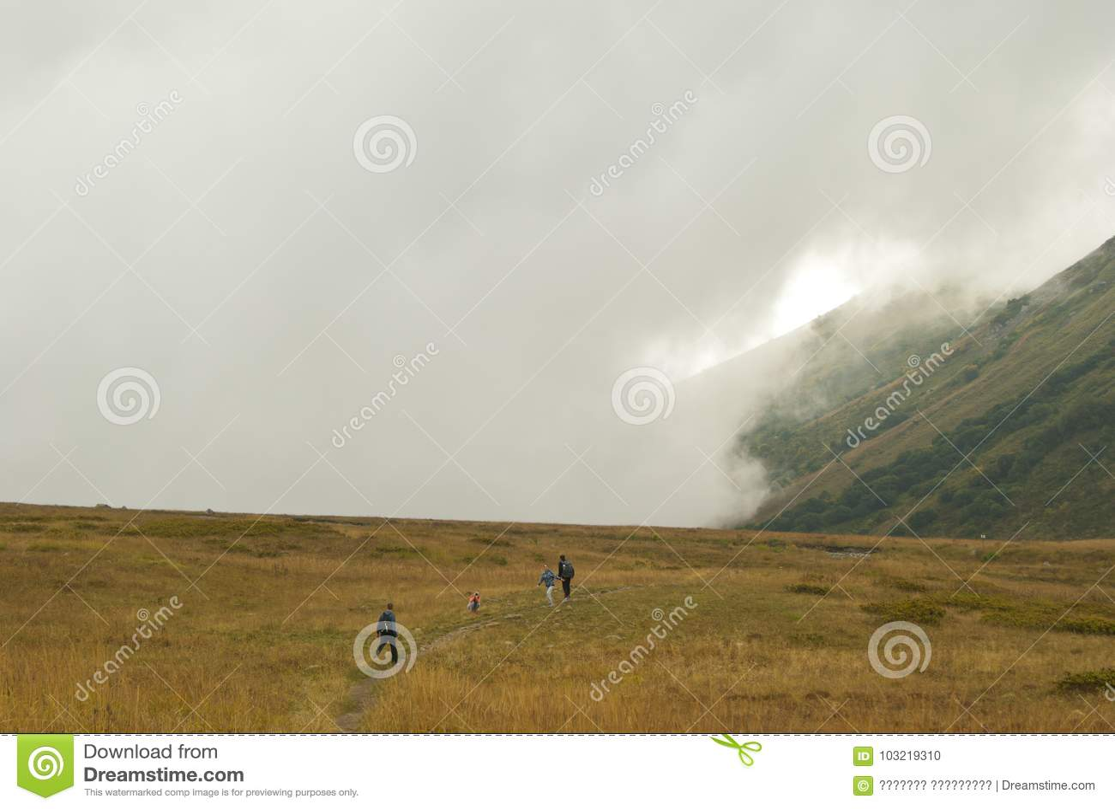 Gang in de bergen