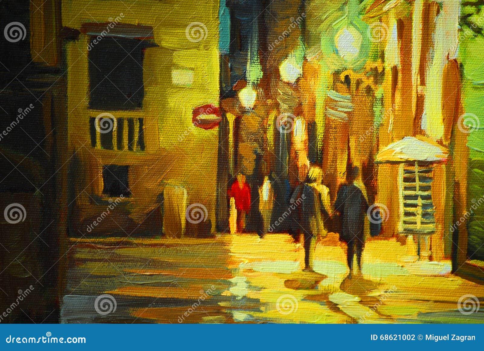 Gang in de regen in het gotische kwart van barcelona het