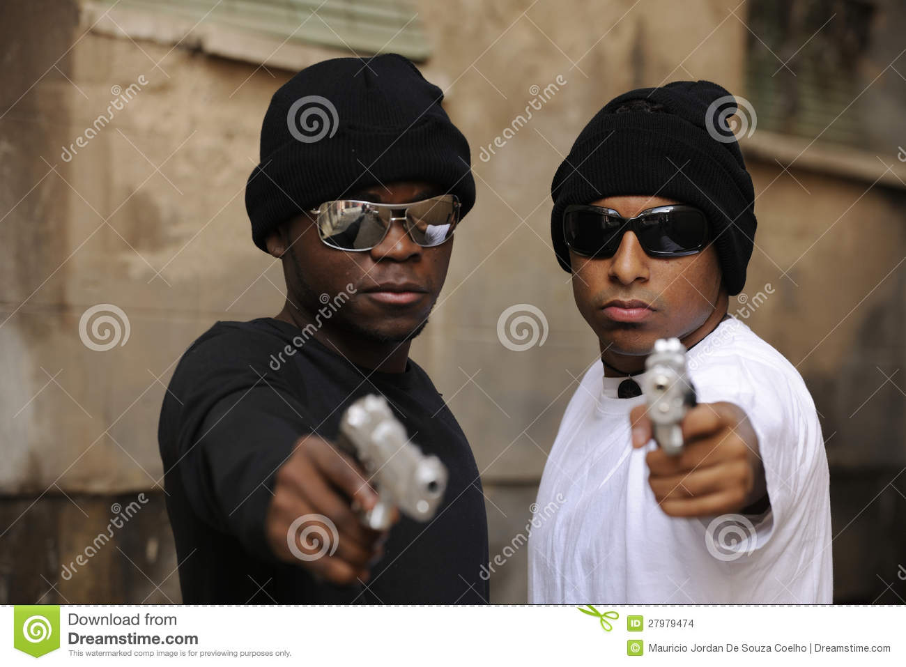 Gang members with guns on the street stock photo image 27979474 - Gang gang ...