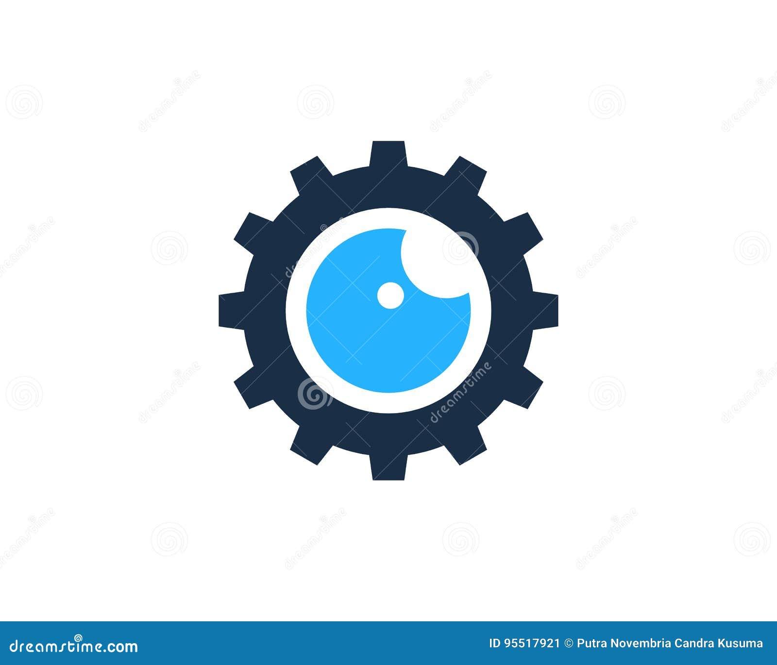 Gang-Werkzeug-Augen-Ikone Logo Design Element Vektor Abbildung ...