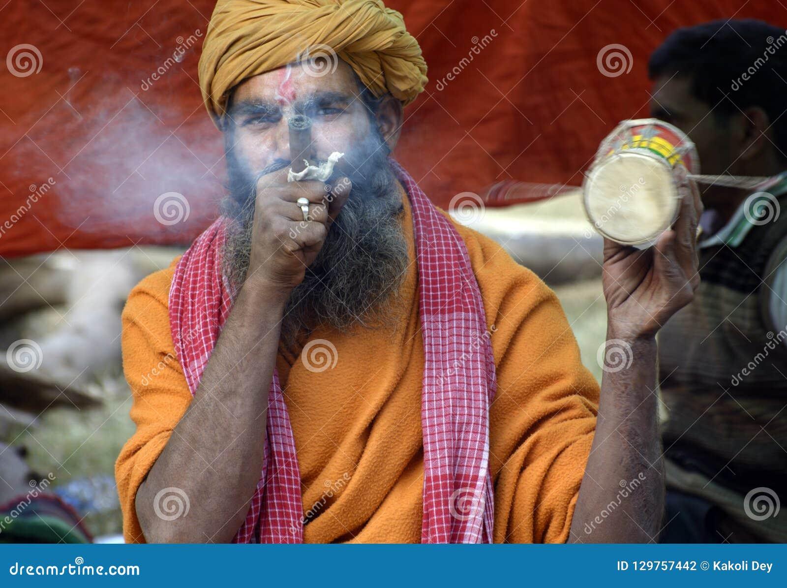 Ganga Sagar Mela Or Fair Is Where Lot Of Sadhus From