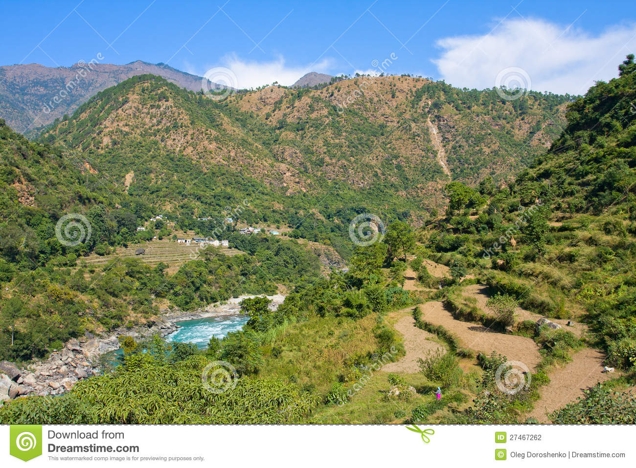 Ganges River In Himalayas Mountains Stock Photography ...