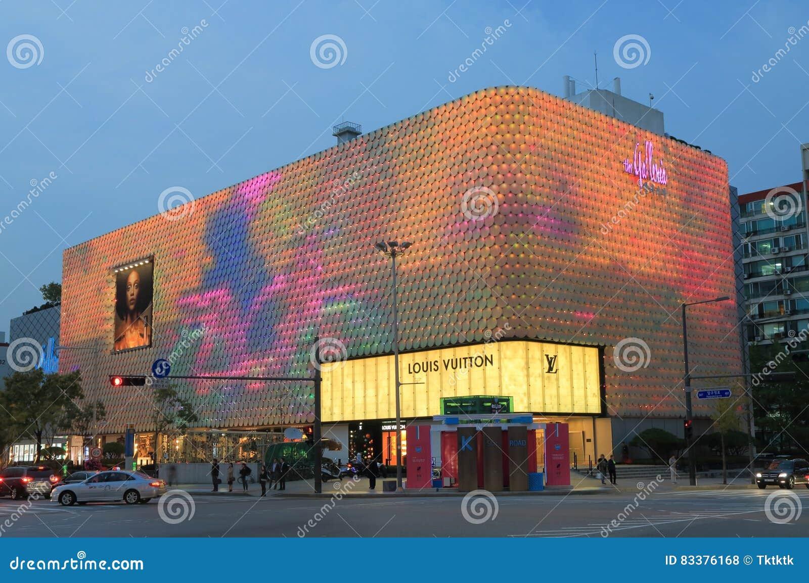 Gangnam Street Shopping Mall Seoul South Korea Editorial Stock Photo ...