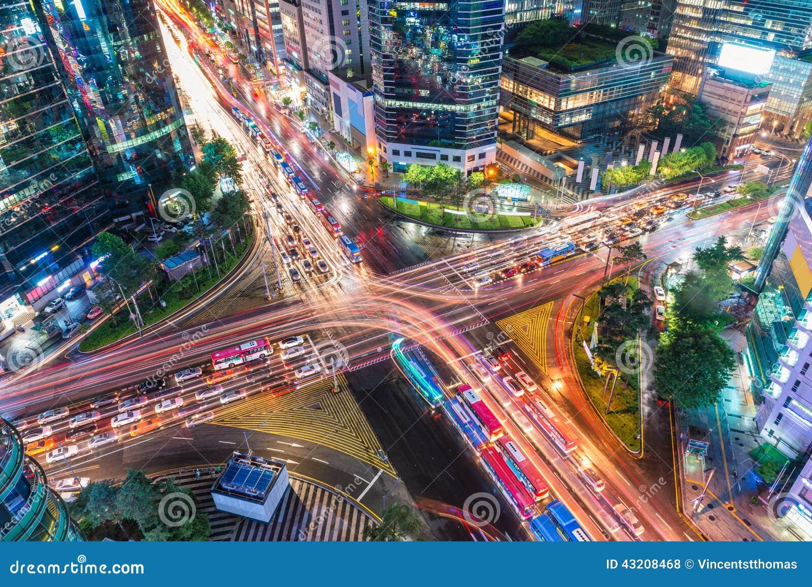 Download Gangnam trafik arkivfoto. Bild av stad, upptaget, downtown - 43208468